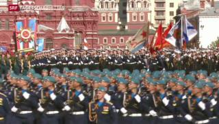 Video «Militärparade in Moskau» abspielen