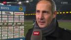 Video «Fussball: Stimmen zu YB-St. Gallen» abspielen