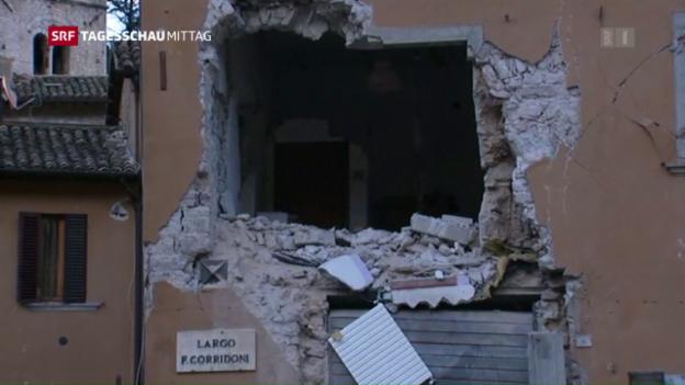 Video «Zwei starke Erdbeben in Italien» abspielen