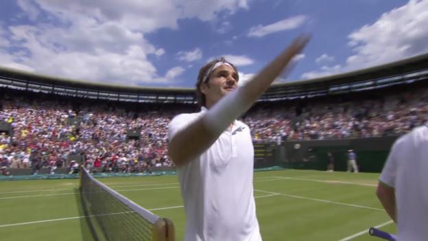 Video «Federer im Siegerinterview (englisch)» abspielen