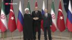 Video «Syrien-Gipfel mit Erdogan Putin und Ruhani» abspielen