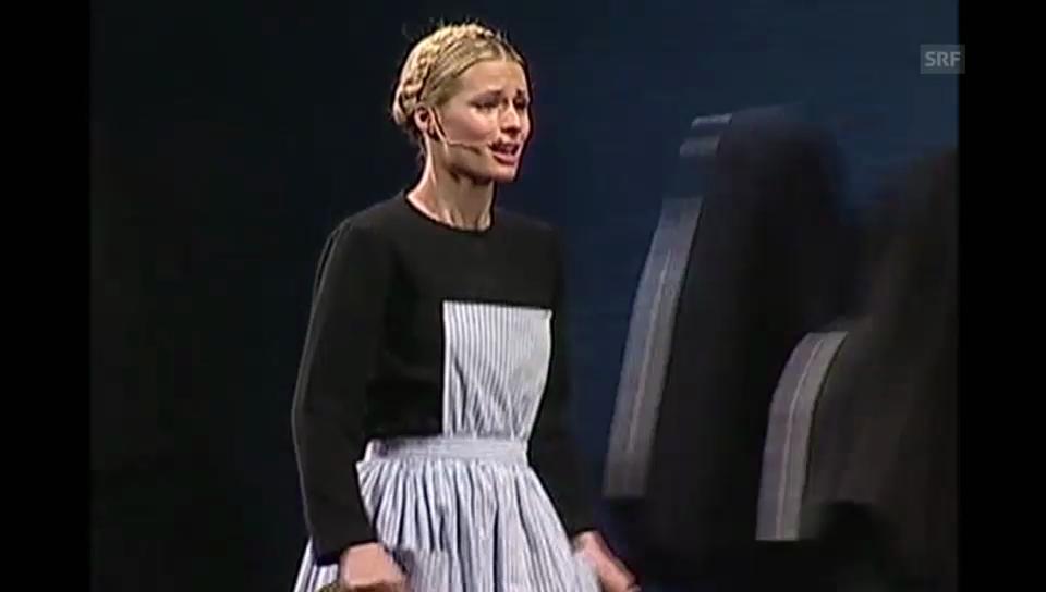 Michelle Hunziker als Musical-Darstellerin