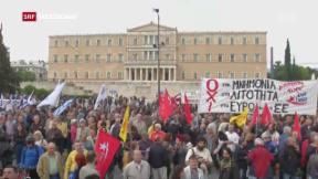 Video «Heftige Krawalle in Griechenland» abspielen