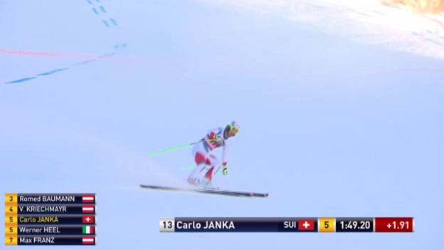 Video «Ski Alpin: Abfahrt Santa Caterina, Fahrt Janka» abspielen