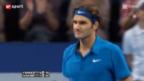 Video «Federer mit Auftaktsieg gegen Starace» abspielen