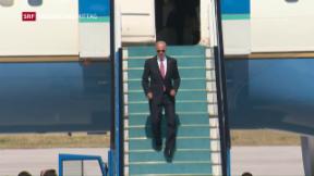 Video «Joe Biden auf glitschigem Parkett in der Türkei» abspielen