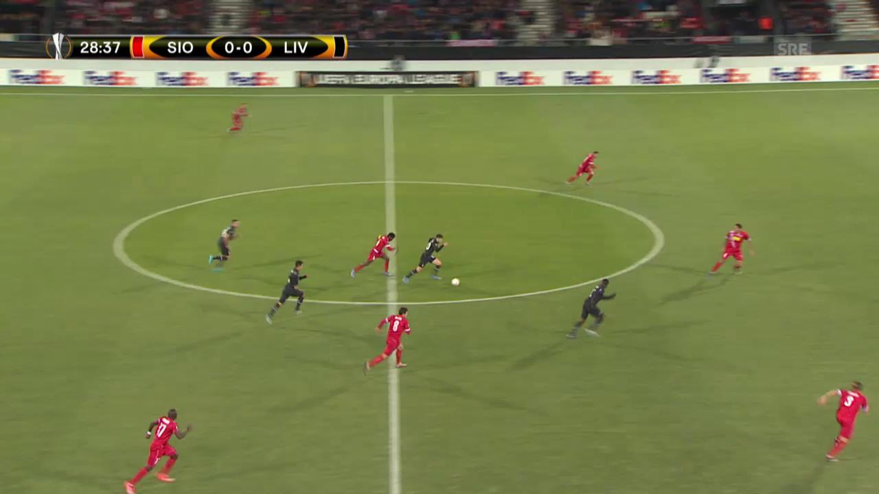 Fussball: Europa League, Sion-Liverpool