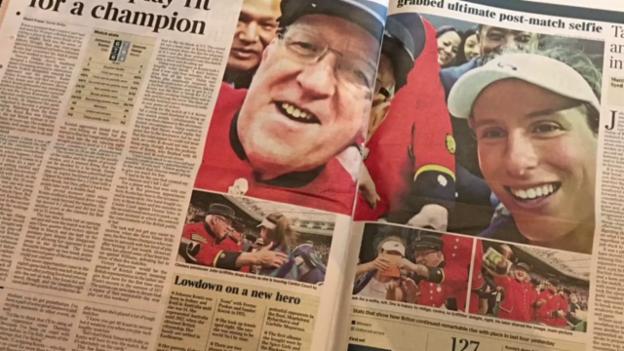 Video «Die britischen Zeitungen huldigen «Queen Konta»» abspielen