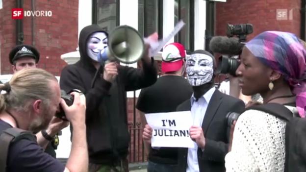 Video «Ecuador nimmt Assange auf» abspielen