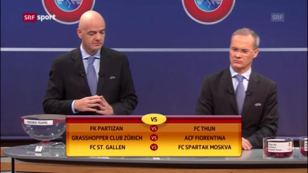 Video «Fussball: Die Gegner der Schweizer Teams in den EL-Playoffs («sportaktuell»)» abspielen
