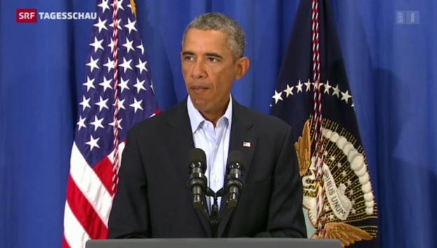 Video «Stellungnahme von US-Präsident Barack Obama» abspielen