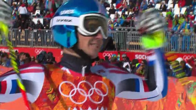 Video «Ski: Riesenslalom Männer Sotschi, 2. Lauf von Steve Missilier (sotschi direkt, 19.2.14)» abspielen