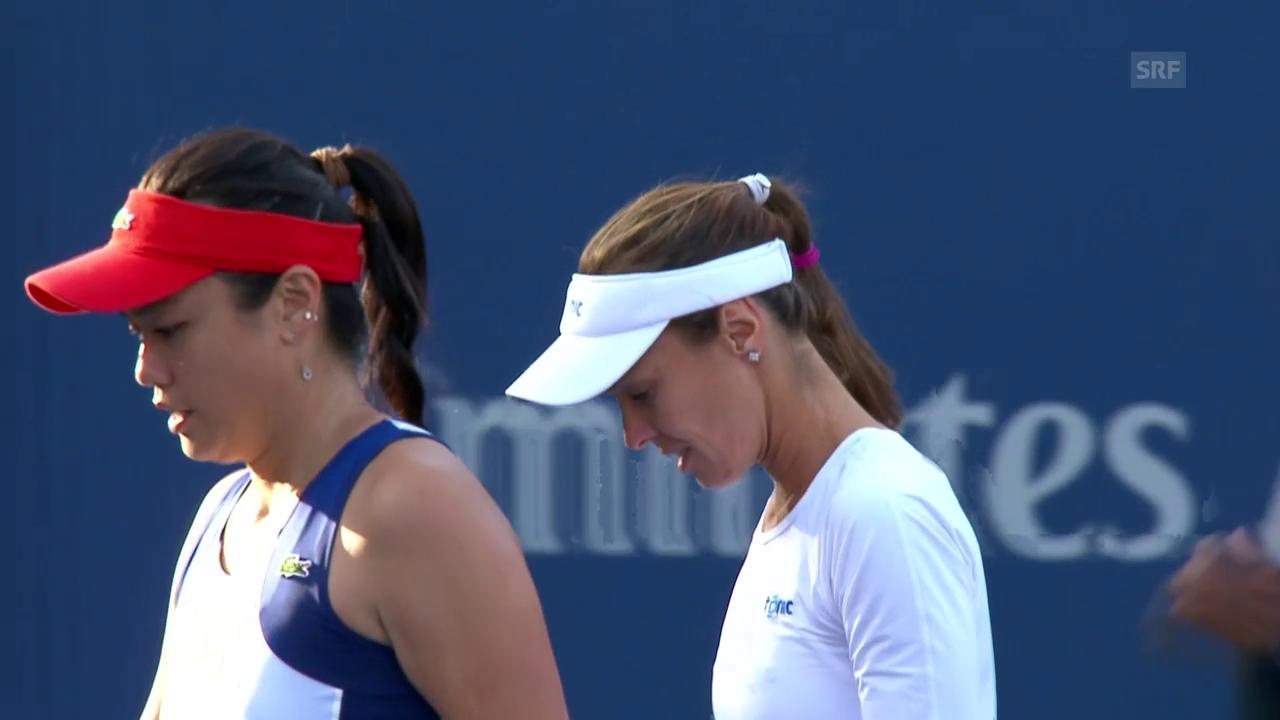 HIngis/Chan starten erfolgreich in die Doppelkonkurrenz der US Open