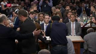 Video «Facebook in der Zange – Was sagt Zuckerberg?» abspielen