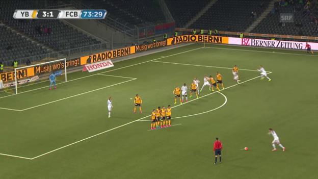 Video «Fussball: 9. Runde Super League, YB-Basel, 3:2 Suchy» abspielen