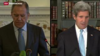 Video «Ergebnisloses Treffen zwischen Kerry und Lawrow» abspielen