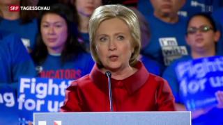 Video «Clinton und Trump triumphieren – Bush steigt aus » abspielen