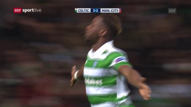 Video «Celtic bringt ManCity arg in Verlegenheit» abspielen