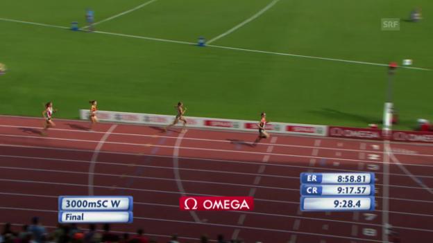Video «Leichtathletik-EM: 3000 m Steeple der Frauen» abspielen