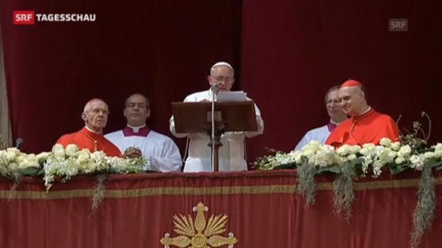 Video «Papst wünscht der Welt Frieden» abspielen
