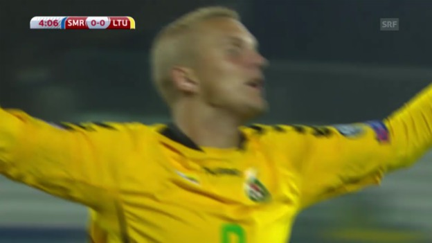 Video «Zusammenfassung San Marino - Litauen» abspielen