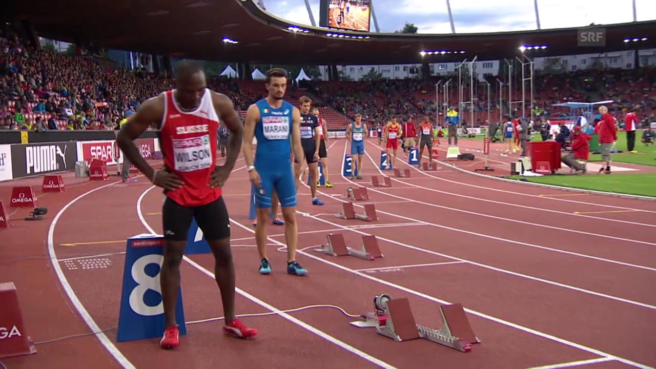Leichtathletik: Alex Wilson scheitert im 200-m-Halbfinal