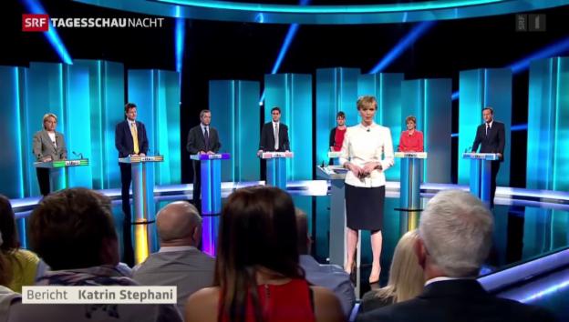 Video «TV-Wahldebatte in Grossbritannien» abspielen