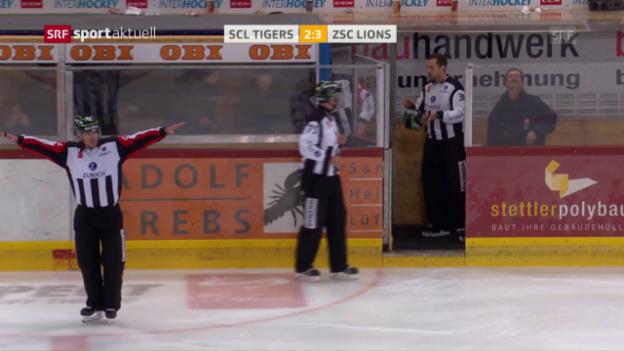 Video «SCL Tigers - ZSC Lions: Das 3. Drittel» abspielen