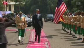 Video «Obama besucht Äthiopien» abspielen