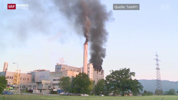 Video «Brand in Kehrichtverbrennungsanlage» abspielen