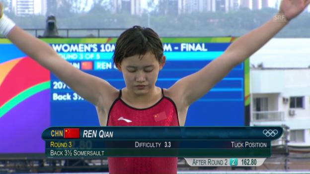 Video «Die erst 15-jährige Qian Ren gewinnt Gold» abspielen