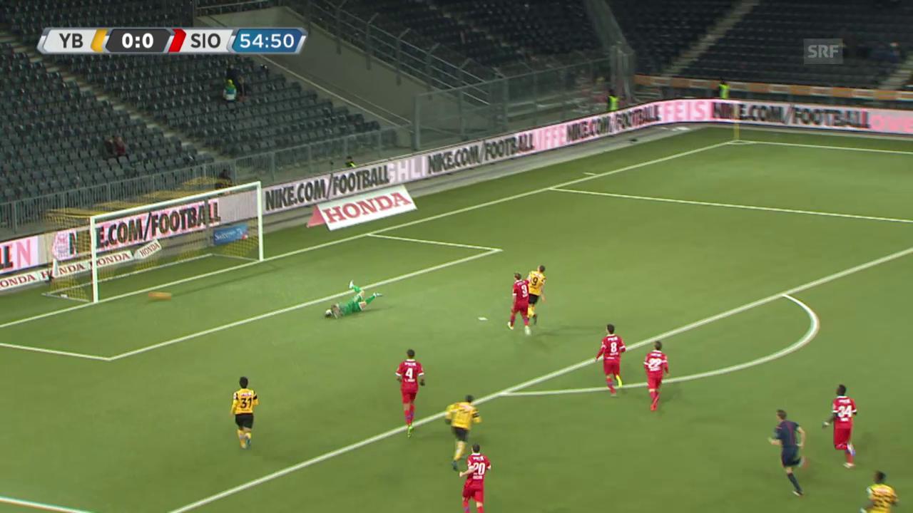 Fussball: Super League, YB - Sion, Tor Gerndt