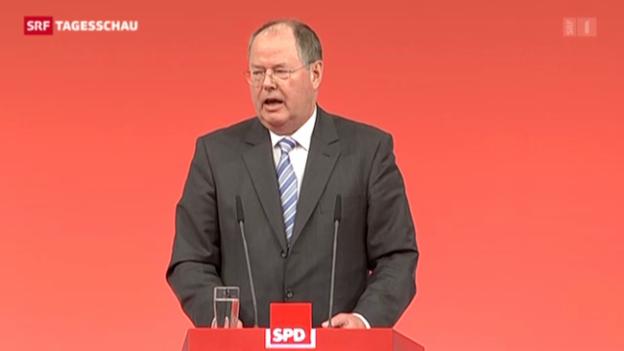 Video «Steinbrück gibt sich kämpferisch» abspielen