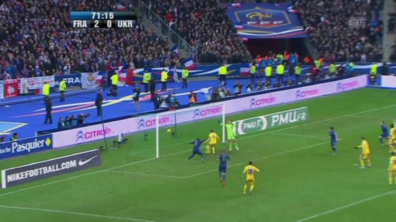 Fussball: Das 3:0 Frankreichs gegen die Ukraine