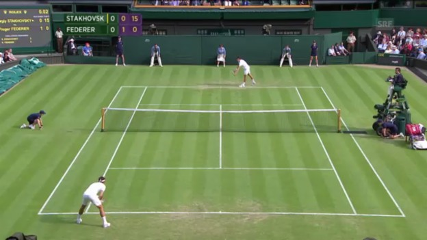 Video «Highlights Federer-Stachowski («sportlive»)» abspielen