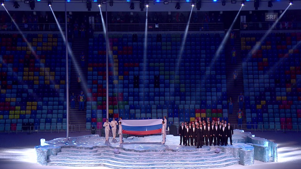 Sotschi: Eröffnungsfeier, die russische Hymne («Sotschi direkt», 07.02.14)