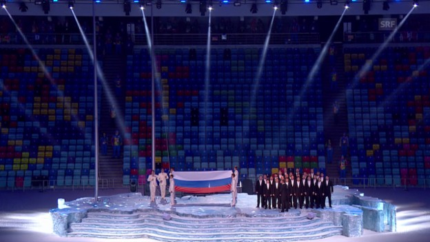 Video «Sotschi: Eröffnungsfeier, die russische Hymne («Sotschi direkt», 07.02.14)» abspielen