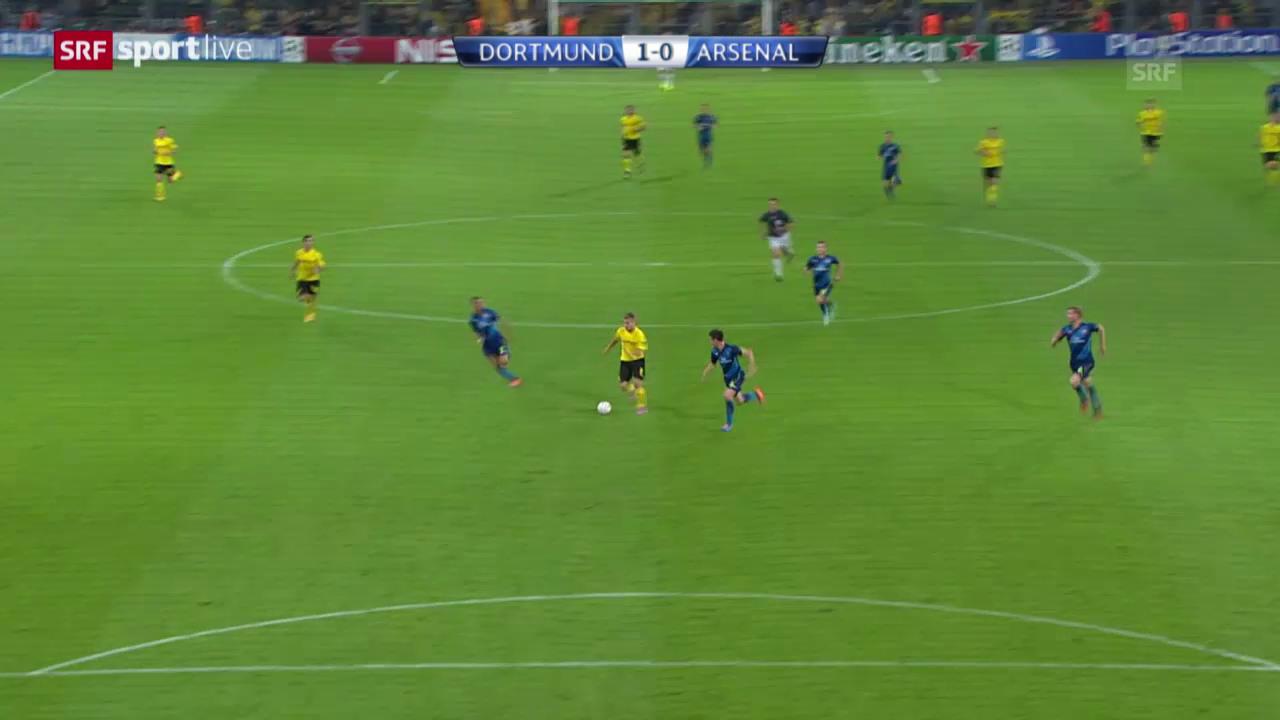 Fussball: Champions League, Ciro Immobiles Sololauf im Spiel gegen Arsenal