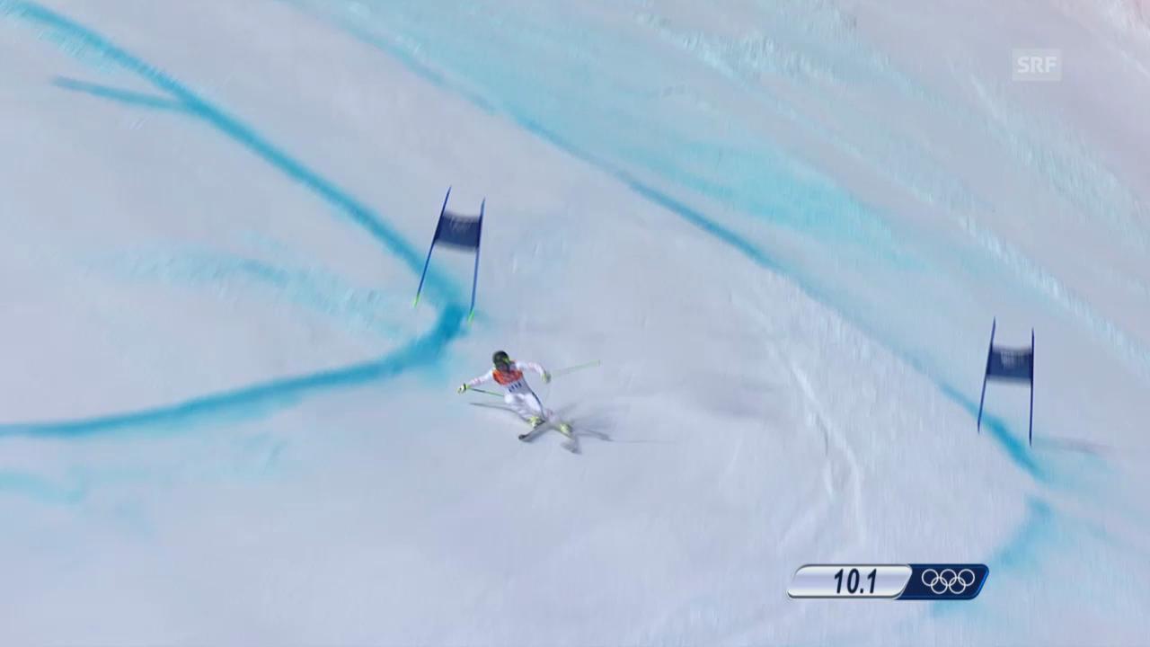 Ski Alpin: Super-G Sotschi, Fahrt Andrew Weibrecht (sotschi direkt, 16.02.2014)