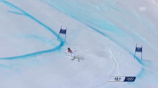 Video «Ski Alpin: Super-G Sotschi, Fahrt Andrew Weibrecht (sotschi direkt, 16.02.2014)» abspielen