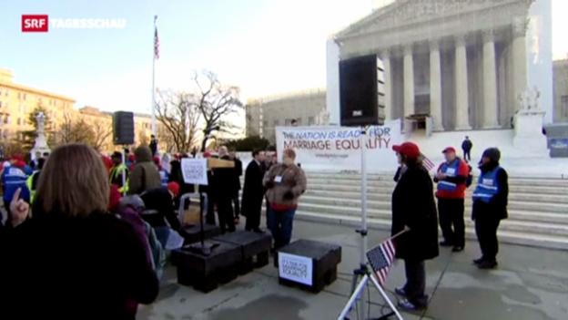 Video «USA: Schicksals-Debatte zur Homo-Ehe» abspielen