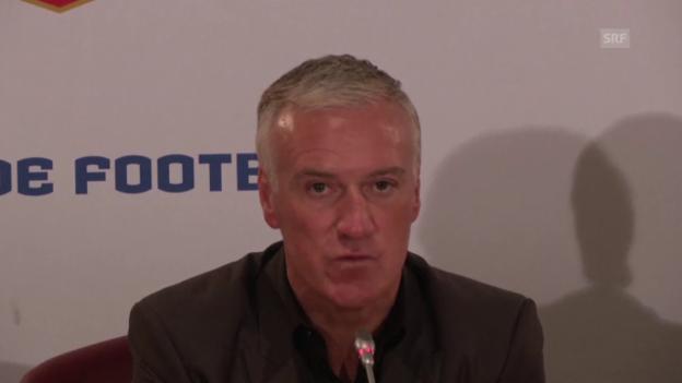Video «Fussball: Nationalmannschaft Frankreich, Vertragsverlängerung Didier Deschamps» abspielen