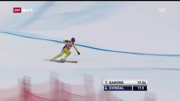 Video «Ski: Lauberhorn 2013, 1. Abfahrtstraining («sportaktuell»-Bericht)» abspielen