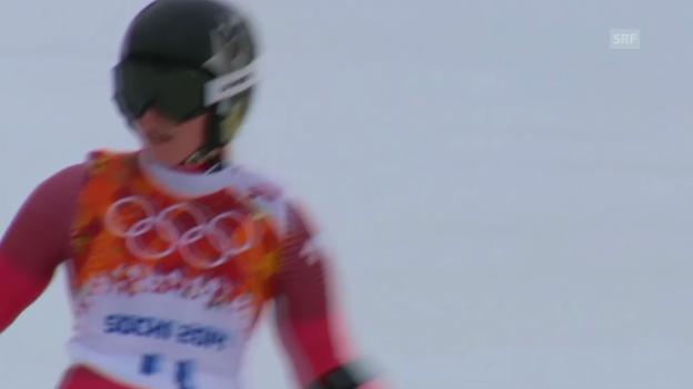 Video «Ski: Riesenslalom Frauen, Zusammenfassung 1. Lauf (sotschi direkt, 18.2.2014)» abspielen