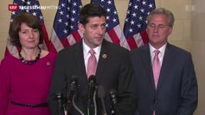 Video «Republikaner einigen sich auf Paul Ryan» abspielen
