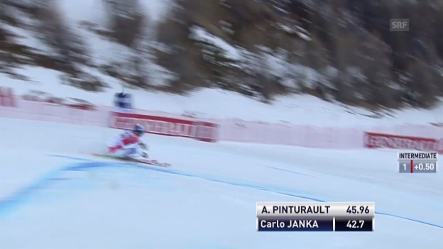 Video «Ski alpin: Riesenslalom Männer Val d'Isère, 1. Lauf von Carlo Janka («sportlive»)» abspielen