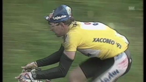 Video «Vuelta: Schweizer Jubeljahre mit Rominger, Zülle und Dufaux» abspielen