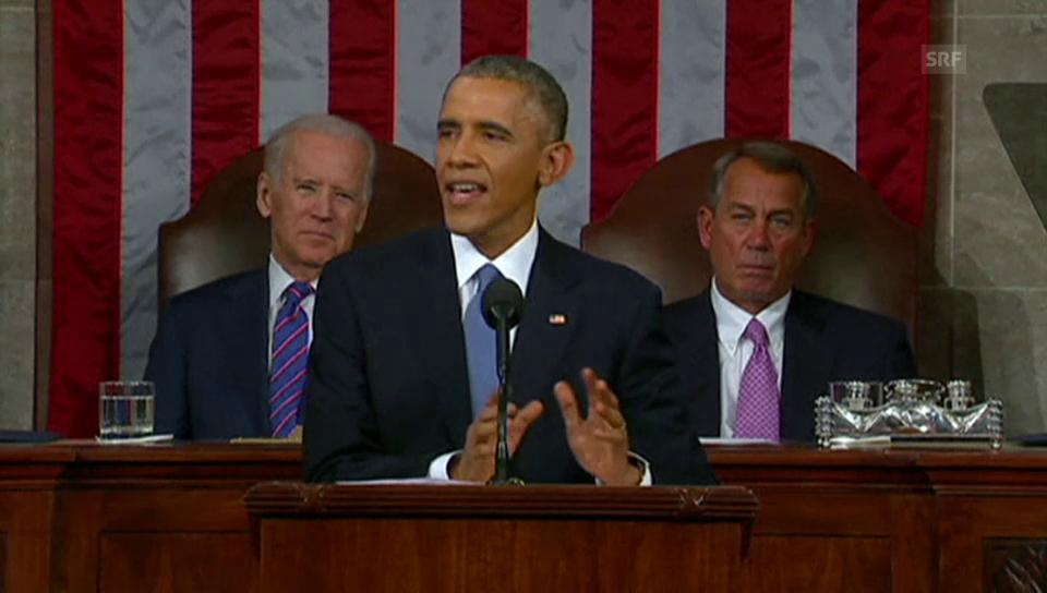 Obama zu Mindestlohn und Aussenwirtschaft (englisch)