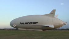 Video «Airlander absolviert Jungfernflug» abspielen