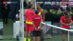 Video «Wawrinka nach Aufgabe von Kyrgios in Dubai im Final» abspielen
